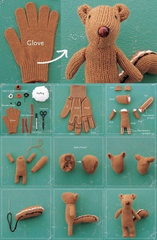 DIY-Chipmunk-Softie-whith-a-recycled-glove-BeAStrainer1